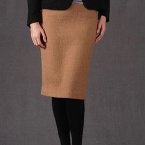 Boden Notre Dame Camel Tan Tweed Wool Pencil Skirt